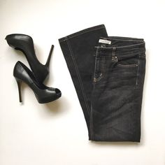 White House Black Market Black Jeans Super cute pair of black jeans from White House Black Market; size 6s, Blanc style. Boot cut. Great pair with heels, sandals, or tucked into your favorite boots. Gently used, great condition and very comfortable! Dress it up or down. Bundle for a great deal. White House Black Market Jeans Boot Cut
