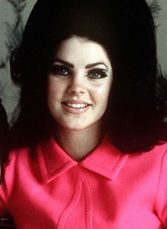 """""""He taught me everything: how to dress, how to walk, how to apply makeup and wear my hair...""""~ Priscilla Presley speaking about Elvis."""