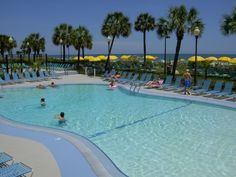 Dayton House in Myrtle Beach - outdoor pool, indoor pool, indoor/outdoor pool, and lazy river...I got in them all!