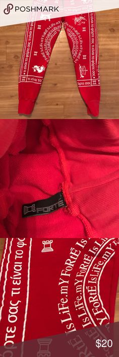 Red Forte sweatpants Joggers No rips, no holes, great condition red Joggers forte Pants Sweatpants & Joggers