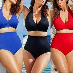 $14.39 (Buy here: https://alitems.com/g/1e8d114494ebda23ff8b16525dc3e8/?i=5&ulp=https%3A%2F%2Fwww.aliexpress.com%2Fitem%2FSwimsuit-Sexy-Large-Size-Woman-Bikini-Swimsuit-High-Waist-Solid-Color-Bikini-Set-Black-Red-Blue%2F32713925723.html ) Swimsuit Sexy Large Size Woman Bikini Swimsuit High Waist Solid Color Bikini Set Black Red Blue Swimwear XXXL Plus Size for just $14.39