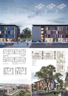 Here are the winners and mentions the National Architecture Competition for mixed-use buildings in Rising Sun - Section in the Federal District, promoted and organized by CODHAB-DF . Social Housing Architecture, Minecraft Architecture, Modern Architecture House, Concept Architecture, Facade Architecture, Presentation Board Design, Architecture Presentation Board, Zaha Hadid Architects, Mix Use Building