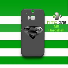 Superman Silver Logo HTC One M8 Case Cover Hardshell
