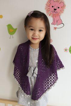 """""""princess"""" free shawl pattern"""
