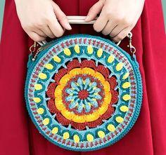 "Bolso de gancho ""Mandala"". Esquemas de tejer - hecho a mano-Paradise"