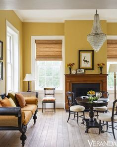 Gorgeous Yellow Living Room Color Schemes 17 is part of Popular Living Room Colors - Gorgeous Yellow Living Room Color Schemes 17 Yellow Walls Living Room, Mustard Living Rooms, Living Room Color Schemes, Paint Colors For Living Room, My Living Room, Living Room Designs, Living Room Decor, Living Room Yellow And Brown, Living Area
