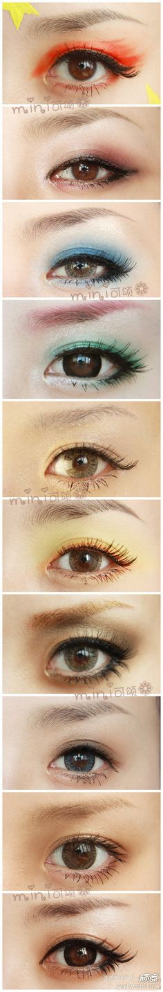 Different eye make-up (asian)