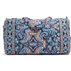 Vera Bradley Large Duffel Travel Bag in Marrakesh (1,395 MXN) ❤ liked on Polyvore featuring bags, luggage, bridal party gifts, gifts and marrakesh