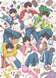 Osumatsu san imágenes y comics 2 Anime Boys, Cute Anime Guys, Manga Boy, Gato Anime, Osomatsu San Doujinshi, Anime Group, Comedy Anime, Gekkan Shoujo, Ichimatsu