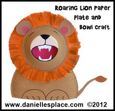 4 Lion paper plate and paper bowl crafts that kids can make.... maybe another activity option.
