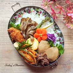 Cute Food, Yummy Food, Bento Box Lunch, What You Eat, Lunch Time, Japanese Food, Dishes, Meat, Chicken