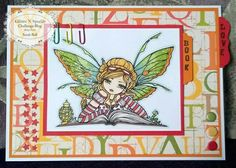 Glitter 'N' Sparkle Back to School Challenge DT Card by Sarah Bell using Crafts and Me Digi Stamp