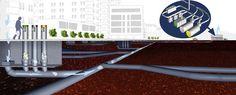 Collecte souterraine pneumatique des déchets