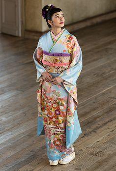 NO.862 正絹 京友禅|成人式の振袖販売、振袖レンタルの京都きもの友禅