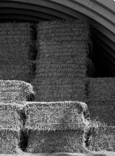 Beautifully stacked hay bales, ready for #winter #farm #farming