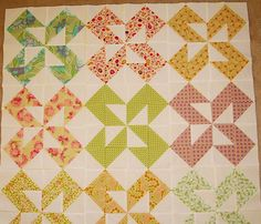 Dutch Pinwheels top without border by wee buttercup, via Flickr