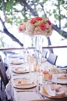 Gorgeous set up! Island Style Weddings - Roses Too Flowers - Elisha Orin Photography