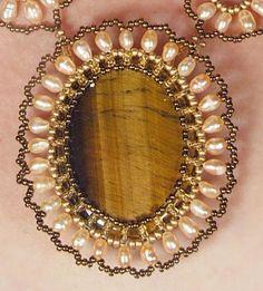 Комплект с тигровым глазом | biser.info - всё о бисере и бисерном творчестве
