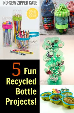 I really love the idea of recycling! Instead of throwing out bottles, use them to make these easy and wonderful bottle project ideas. 1.DIY Pretty Plastic