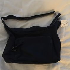 Authentic coach bag Authentic coach purse ... Ok I'm addicted to coach some must go.... Beautiful new with tag Black Coach Bags Shoulder Bags