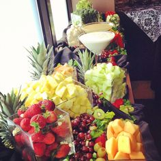 Don't forget to serve tons of fresh, colourful fruits & veggies!