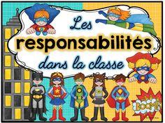 44 cartes des responsabilités dans la classe