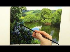 How to paint realistic trees in three easy steps | Oil painting tutorial - YouTube
