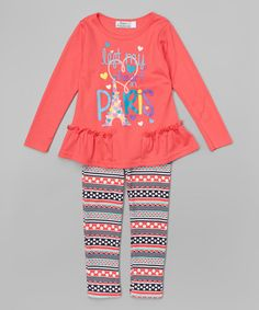 Another great find on #zulily! Coral Top & Leggings #zulilyfinds