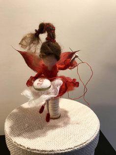 Hadas de fieltro de aguja Waldorf inspirado hadas de lana