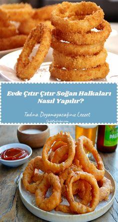 Onion Rings Recipe, Crispy Onions, Onion Recipes, Food Design, Food Art, Pasta, Dinner Recipes, Brunch, Food And Drink