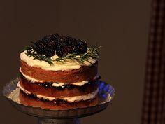 Simple vanilla cake, gorgeously interpreted by Posy Gets Cozy.  Cake recipe here: http://www.marthastewart.com/315436/versatile-vanilla-cake