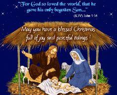 Merry christmas manger