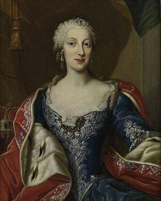 ca. 1765 Maria Anna von Sachsen (1728–1797), Gemahlin Maximilian III Joseph von Bayern by Georg Desmarées (location unknown to gogm)