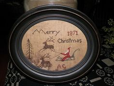 Primitive Santa Ride  ... primitive cross by CandlelightStitching, $7.50