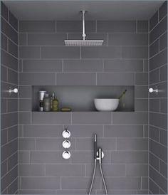 bathroom design, slate grey, gray, overhead shower, shower #bathroom decor #bathroom idea #bathroom inspiration| http://bathroom-idea.kira.lemoncoin.org