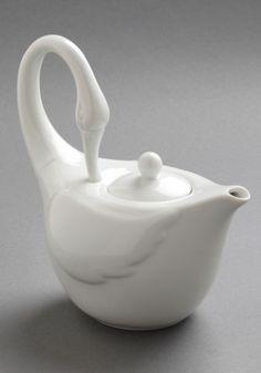 Swans Upon a Time Tea Pot