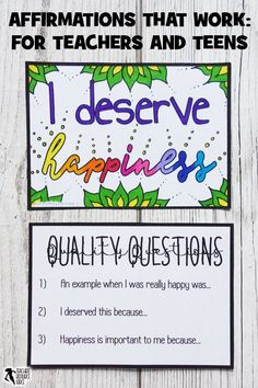 Affirmations on resilience that really work, for teachers and teens! Teaching Character, Character Education, Character Counts, Character Development, Personal Development, Help Teaching, Teaching Tools, Teaching Ideas, School Resources