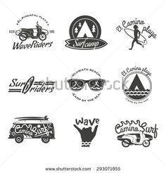 retro beach logos - Google Search