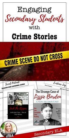 Engaging Secondary Students with Crime Stories Here, you will find four projects that involve crime as a means of targeting essential skills for reading and writing. These projects are sure to capture student interest and engage them in practicing skills Middle School Reading, Middle School English, Detective, Secondary Teacher, Mystery, Essay Writing Tips, Writing Ideas, English Classroom, Teaching Strategies