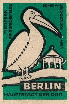 East Germany (DDR) matchbox label