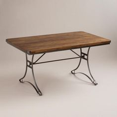 Jackson Rectangular Table with Metal Base gorgeous