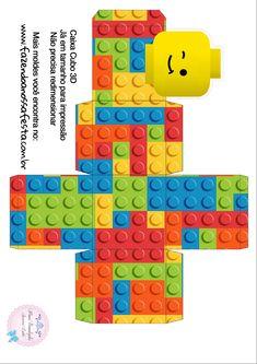 Caixa Cubo 3D Lego                                                       …
