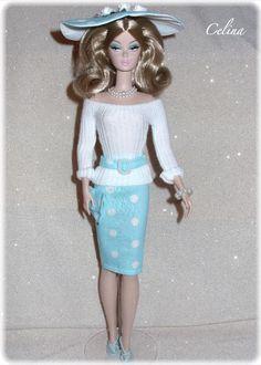 Market Day Silkstone Barbie modeling a Celina's Design Fashion!