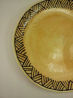 Guale inspired dinner plate