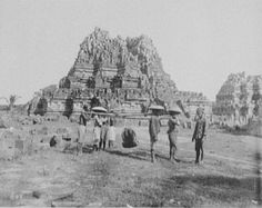 The ruins of Prambanan soon after their discovery