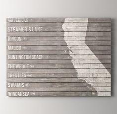 木材板 サーフスポットペイントアート - 壁掛け アート専門店 - Timeline & co