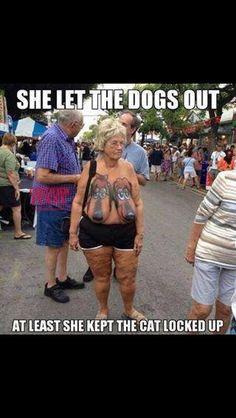 Zij heeft zeker ervaring met honden uitlaten