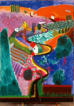Pop art painting ideas david hockney 20 ideas for 2019 David Hockney Art, David Hockney Paintings, David Hockney Landscapes, Arte Pop, David Hockney Photography, Pop Art Movement, Ouvrages D'art, Art Abstrait, Art Design