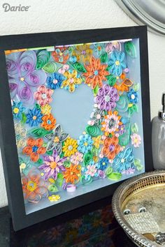 Despite how intricate it looks, quilling is actually easy enough for kids! Follow this tutorial to make your own beautiful quilled wall art.