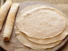 Cooking Channel serves up this Quick Injera recipe plus many other recipes at… Food Network Recipes, Food Processor Recipes, Cooking Recipes, Bread Recipes, Teff Recipes, Cooking Blogs, Cooking Games, Quick Injera Recipe, Ethiopian Cuisine